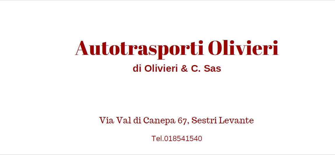 Autotrasporti Olivieri Via Val di Canepa, 67, 16039 Sestri Levante GE tel 0185/41549